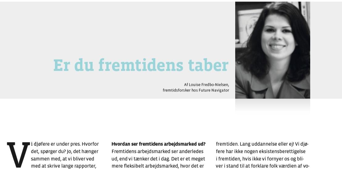 Djøf Kronik Louise Fredbo-Nielsen