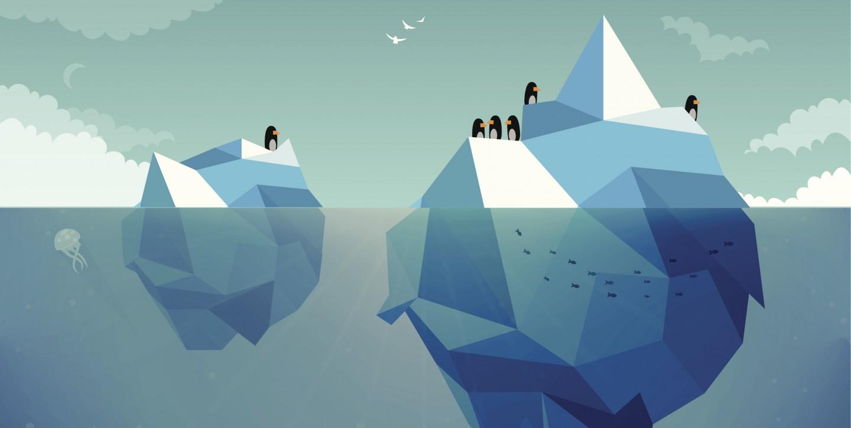Når en pingvin hopper i vandet, hopper alle de andre pingviner også i. Pingviner er flokdyr og lever i kæmpekolonier.